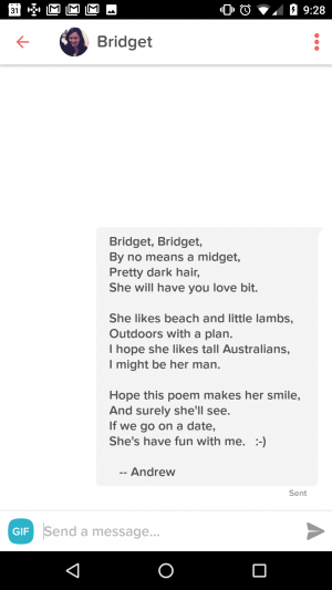 Tinder poem - Catty