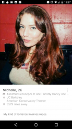 Tinder profile - Michelle